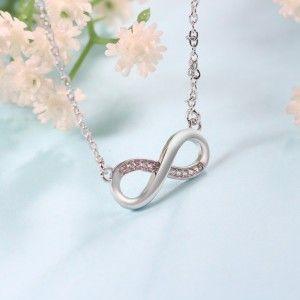 Halskette Frau Unendlich Premium V4 Silber