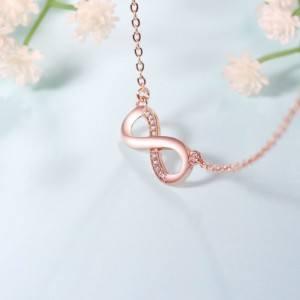 Collier Femme Infini Premium V4 Doré Or Rose