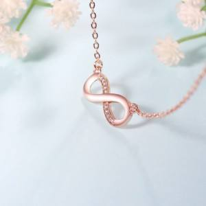Necklace Woman Infinity Premium V4 Gilded Rose Gold