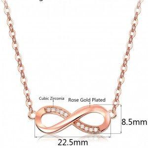 Колие Жени Безкрайност Premium V4 Злато Покритие Розово Злато Размери