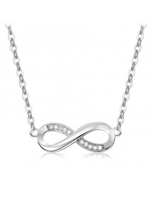 Necklace Woman Infinity Premium V4 Silver