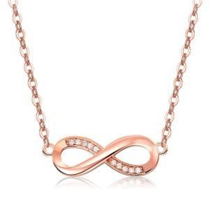 Halskette Frau Unendlich Premium V4 Vergoldet Rose Gold