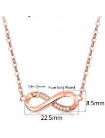 Collana Donna Infinity Premium V4 D'Oro In Oro Rosa Dimensioni