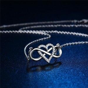 Collier Femme Infini Et Coeur Premium Argenté