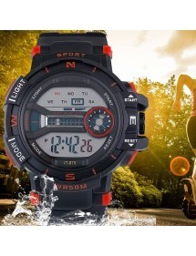 Men's Watch Sports Digital Waterproof Simply V2 Black And Red