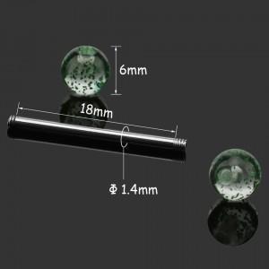 Zunge Piercings Simply Lot von 9 Multiclore Chirurgenstahl Abmessungen