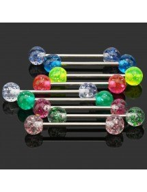 Zunge Piercings Simply Lot von 9 Multiclore Chirurgenstahl