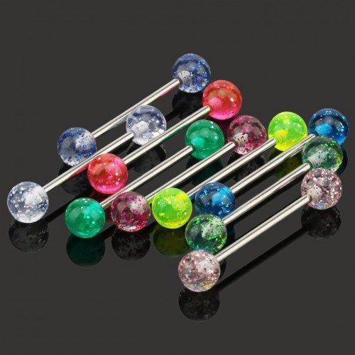 Piercing lingua, Semplicemente, Lotto di 9 Multiclore in Acciaio Chirurgico
