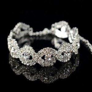 Bracciale In Onda Argento Diamante