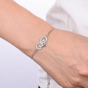 Гривна Женски Безкрайност, и Сърцето, Premium V3 Silver