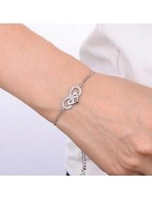 Bracciale Donna Infinito e Cuore Premium V3 Silver