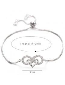 Bracelet Femme Infini et Coeur Premium V3 Argenté
