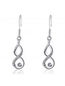 Schmuck Schmuck Frau Halskette Armband Ohrringe Unendlichkeit Und Herz-Premium - - V3-Silber