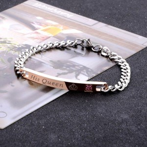 Bracelet Couple His King to His Queen Her King, His Queen Lot of 2