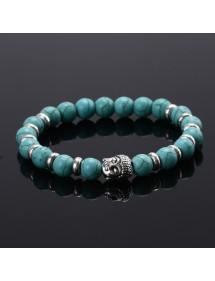 Bracelet Buddha Argent_Bleu