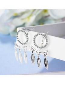 Cercei Capturile De Vis Design Premium Silver