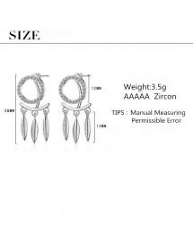 Oorbellen Vangsten Droom Premium Design Zilver Afmetingen