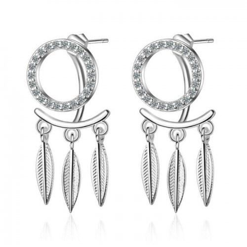 Ohrringe Fängt Traum, Premium Design, Silber