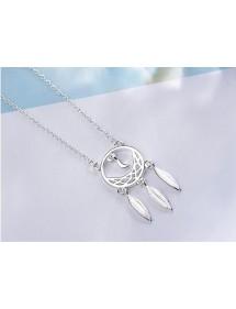 Halskette Frau Fängt Traum, Premium Design, Silber