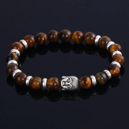 Bracelet Bouddha Argent_Marron