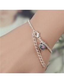 Bracelet Infini Luxe Argent et Perle Rose 2