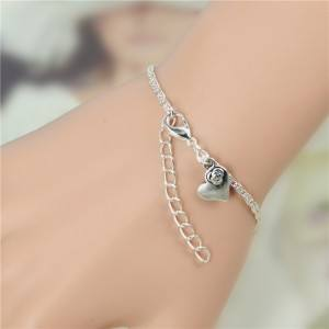 Bracelet Infinity Luxury Silver and Pearl White 2