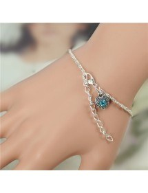 Bracelet Infinity Luxury Silver and Pearl Blue 2