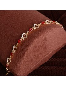 Bracelet Passion Red Heart Gold 3