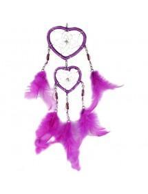 Attrape Rêve Coeur Violet