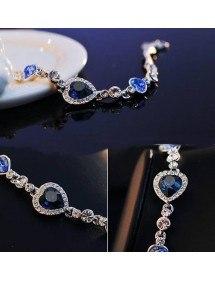 Heart Of The Ocean Bracelet, Titanic, Blue 2