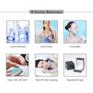 Försiktighetsåtgärder för smycken