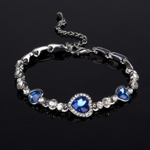 Bracelet Heart Of The Ocean, Titanic, Blue 3
