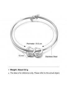 Armband Frau Benutzerdefinierte Medaillons, Herzen, 2 bis 6 Vornamen Silber Abmessungen