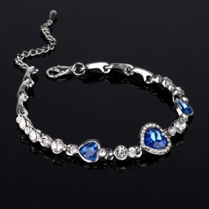 Bracelet Heart Of The Ocean, Titanic, Blue, 4