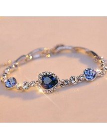 Bracelet Heart Of The Ocean, Titanic, Blue, 5
