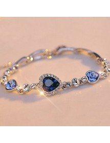 Heart Of The Ocean Bracelet, Titanic, Blue 5