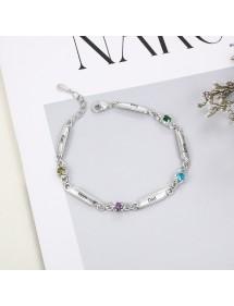 Armband Frau Benutzerdefinierten Simply 1 5 Vornamen Silber
