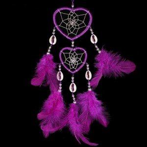 Attrape Rêve Coeur Violet 2