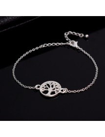 Bracelet Arbre De Vie Argent