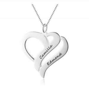 Halskette Frau Benutzerdefinierten Dual-Core 2 Vornamen