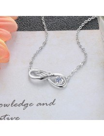 Necklace Woman Custom Infinity Winged 1 Name