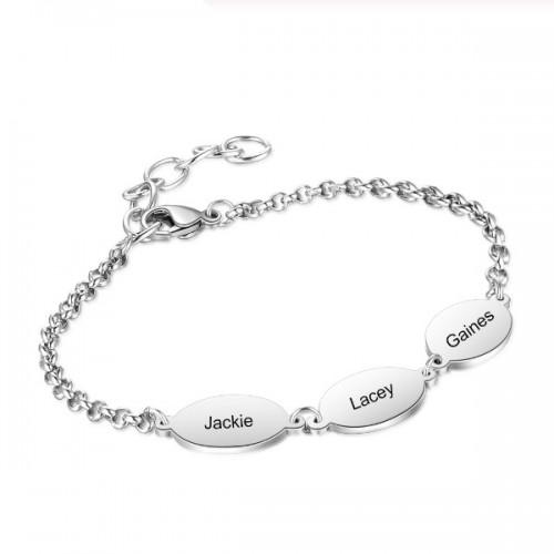 Armband Frau Benutzerdefinierte Medaillons 3 Vornamen