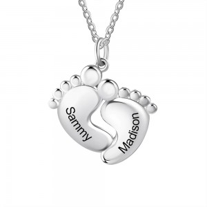 Halskette Benutzerdefinierte Fuß-Simply 2 Vornamen