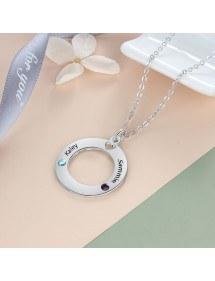 Necklace Woman Custom Round Locket 2 Names
