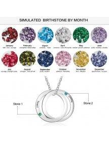 Necklace Woman Custom 2 Names Interlocking Circles
