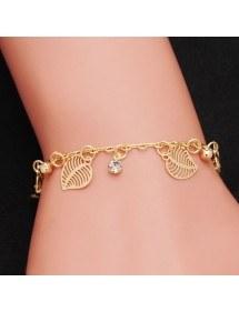 Diamonds Bracelet and Leaf Gold