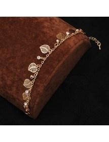Diamanti Bracciale e Foglie d'Oro 2