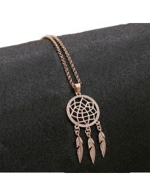 Women's Dreamcatcher Premium V2 Necklace Rose Gold Color 2