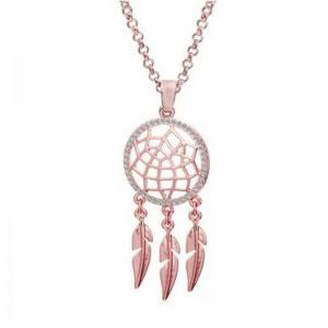 Collar para mujer Dream Catcher Premium V2 Color oro rosa