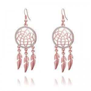 Women's Dream Catcher Premium V2 Earrings Rose Gold Color
